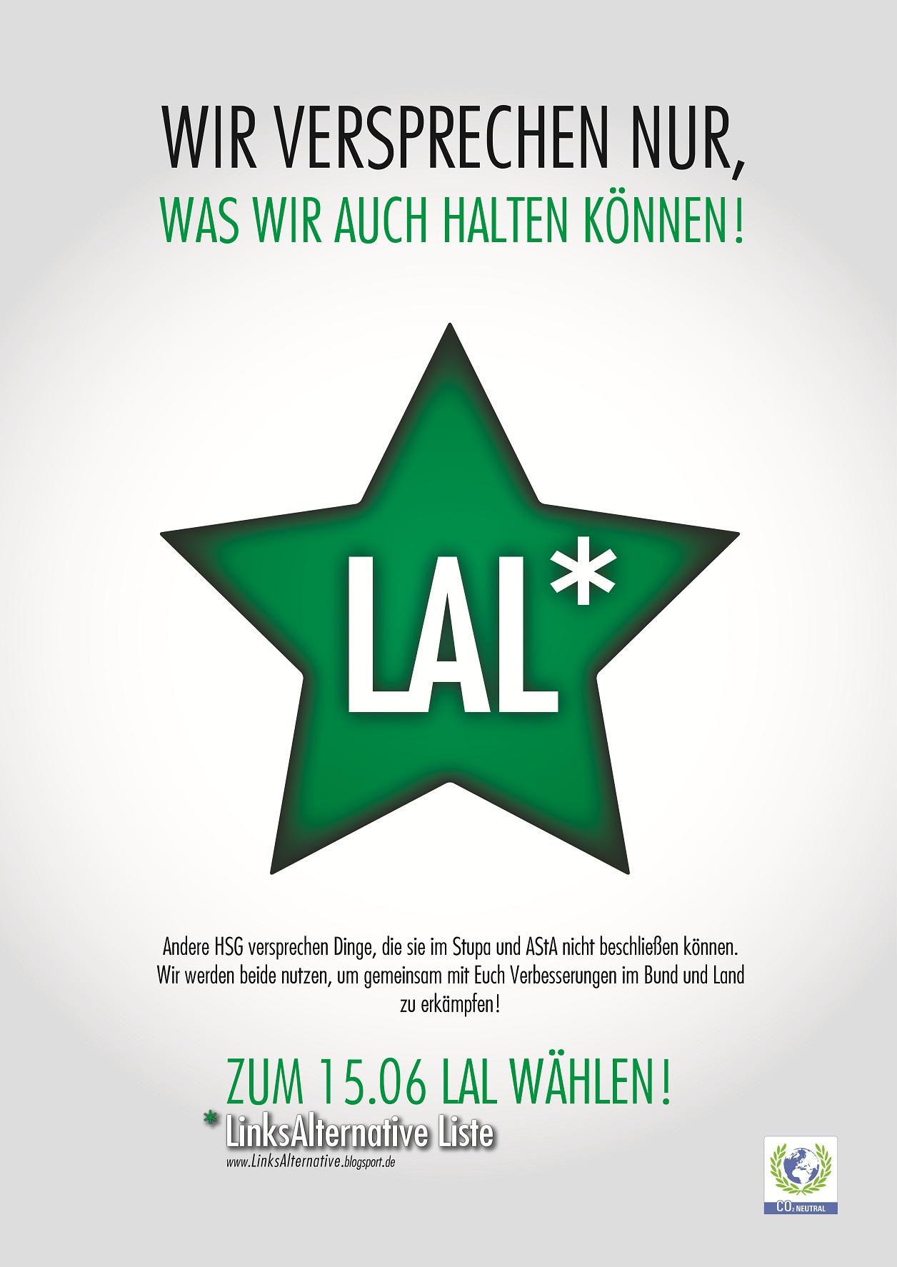Wahlplakat 2010